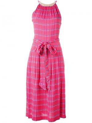 Платье с принтом Vanessa Seward. Цвет: розовый и фиолетовый