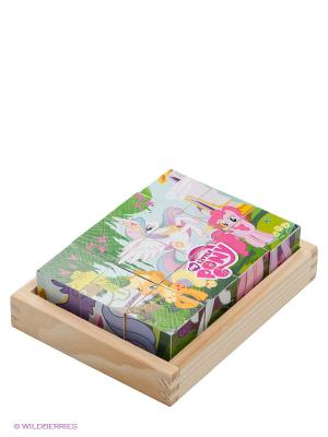Набор кубиков My little pony Играем вместе. Цвет: зеленый, бледно-розовый, желтый