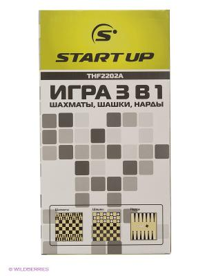 Игра 3 в 1 (шахматы, шашки, нарды) Start Up. Цвет: салатовый