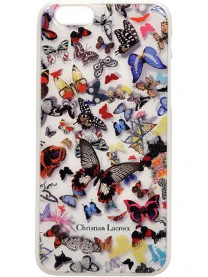 Чехол Lacroix для iPhone 6/6S Butterfly Hard White Christian. Цвет: белый