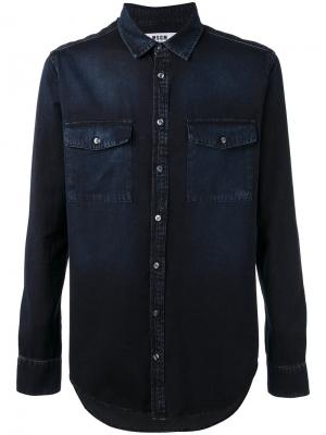 Джинсовая рубашка MSGM. Цвет: чёрный