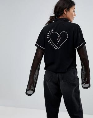 Lazy Oaf Рубашка Beyond Repair. Цвет: черный