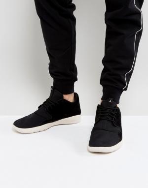 Jordan Черные кожаные кроссовки Nike Eclipse 724368-013. Цвет: черный