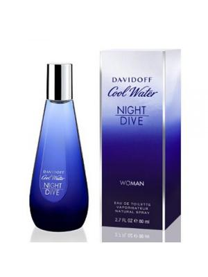 Cool Water Night Dive lady edt 80 ml DAVIDOFF. Цвет: синий,голубой