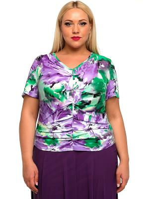 Блузка SVESTA. Цвет: сиреневый, зеленый