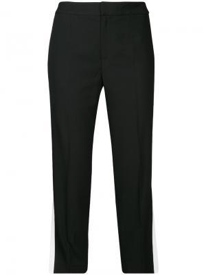 Укороченные брюки с полосками по бокам Le Ciel Bleu. Цвет: чёрный