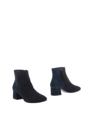 Полусапоги и высокие ботинки JULIE DEE. Цвет: темно-синий