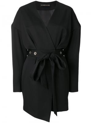 Платье с поясом Alexandre Vauthier. Цвет: чёрный