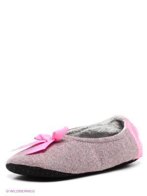 Тапочки Burlesco. Цвет: серый, розовый, золотистый