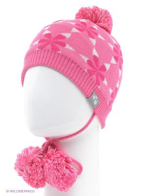 Вязаная шапка HUPPA. Цвет: розовый