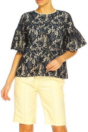 Блуза ZHOR&NEMA. Цвет: синий, ванильный