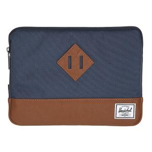 Чехол для iPad  Heritage Sleeve For Air Navy/Tan Synthetic Leather Herschel. Цвет: синий,коричневый