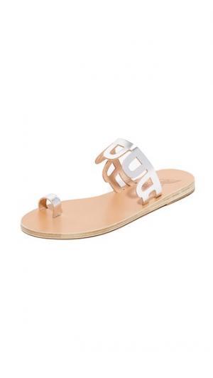 Сандалии Venus с кольцом для пальца Ancient Greek Sandals. Цвет: голубой