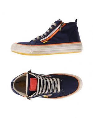 Высокие кеды и кроссовки CHANGE. Цвет: темно-синий