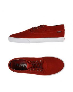 Низкие кеды и кроссовки LAKAI. Цвет: красный