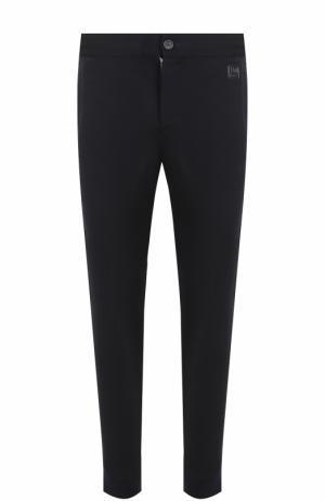 Шерстяные брюки с лампасами Z Zegna. Цвет: темно-синий