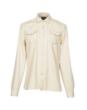 Джинсовая рубашка SCOTCH & SODA. Цвет: слоновая кость