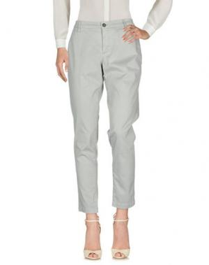 Повседневные брюки DERRIÉRE. Цвет: светло-серый