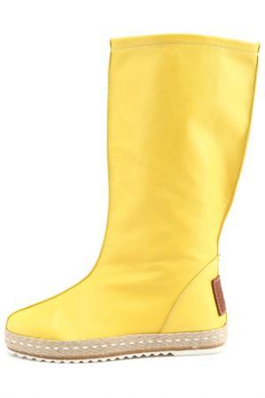 Сапоги BENUCCI. Цвет: желтый