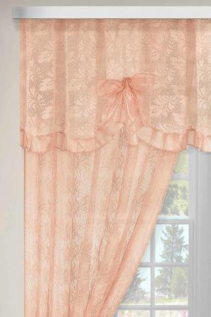 Комплект штор для кухни Злата Корунка. Цвет: персиковый