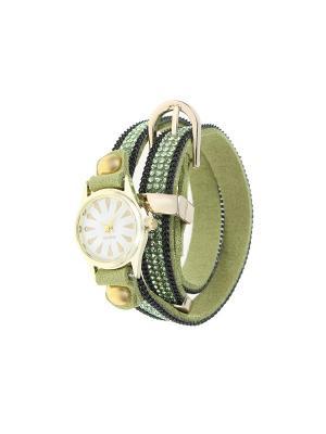 Браслет-часы Olere. Цвет: золотистый, зеленый, черный