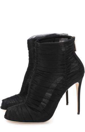 Полупрозрачные ботильоны на шпильке Dolce & Gabbana. Цвет: черный