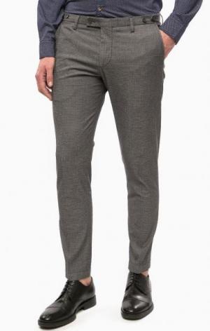 Серые хлопковые брюки Cinque. Цвет: серый