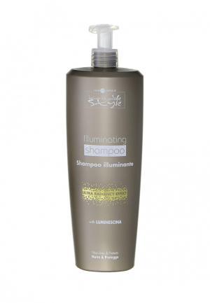 Шампунь для блеска волос 1 000 мл Hair Company Professional. Цвет: бежевый