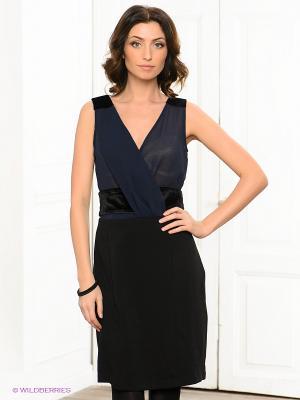 Платье Viaggio. Цвет: черный, темно-синий