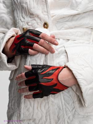 Перчатки Eleganse. Цвет: черный, красный