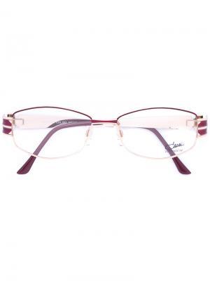 Очки с эмалированной круглой оправой Cazal. Цвет: розовый и фиолетовый