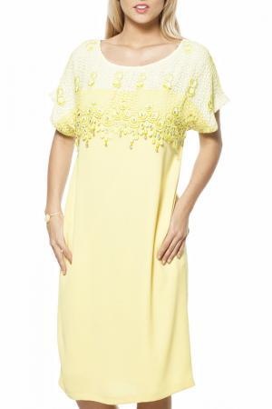 Платье GRAND POMMES. Цвет: желтый