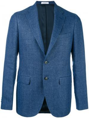 Flap pockets blazer Boglioli. Цвет: синий