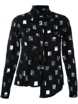 Рубашка с прозрачным узором Area Di Barbara Bologna. Цвет: чёрный