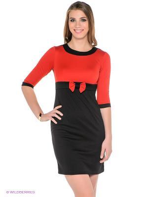 Платье Dea Fiori. Цвет: черный, красный