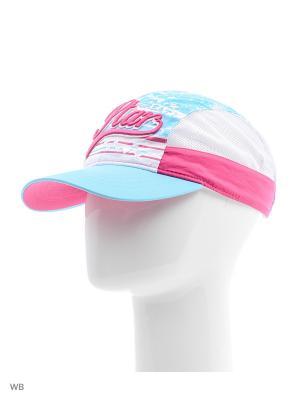 Бейсболка Maxval. Цвет: бирюзовый, розовый