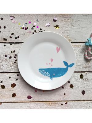 Тарелка Просто кит Сотвори Чудо. Цвет: белый