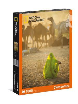 Clementoni. National Geographic. Индианка, смотрящая на караван верблюдов (n). Clementoni. Цвет: оранжевый, желтый, коричневый