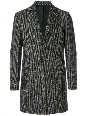 Пальто с пятнистым узором Daniele Alessandrini. Цвет: чёрный