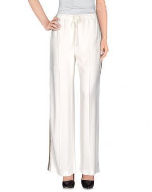 Повседневные брюки MAIYET. Цвет: белый
