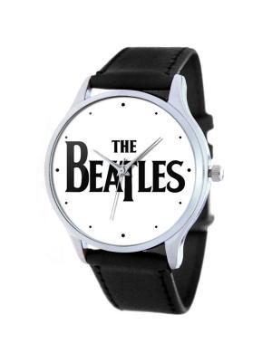 Дизайнерские часы The Beatles logo Tina Bolotina. Цвет: черный, белый