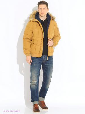 Куртка Staff. Цвет: желтый
