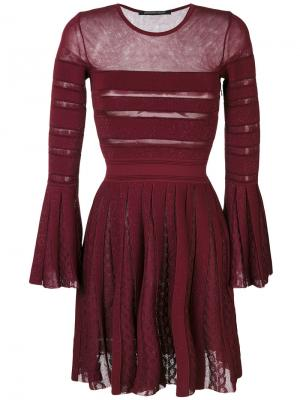 Semi-transparent pleated dress Antonino Valenti. Цвет: розовый и фиолетовый