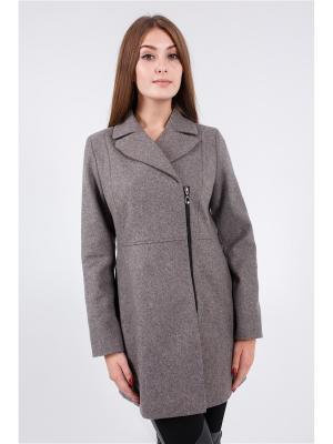 Пальто Nikolom. Цвет: серый