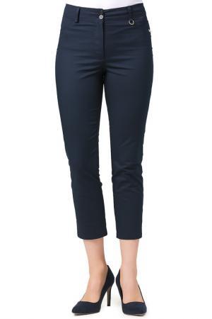 Укороченные брюки с застежками Helmidge. Цвет: темно-синий