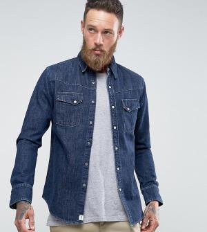 Edwin Синяя выбеленная джинсовая рубашка Kaito. Цвет: синий