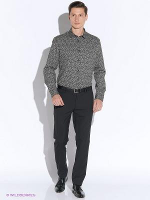 Рубашка Oodji. Цвет: черный