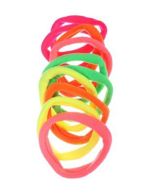 Резинки для волос 5 см плотные ярких цветов, набор 10 шт Радужки. Цвет: синий, зеленый, красный