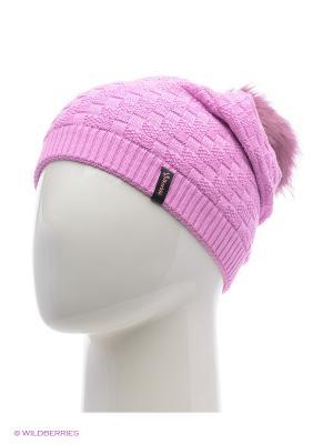 Шапка женская с помпоном Berkle. Цвет: розовый