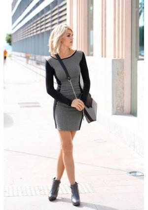 Платье Laura Scott. Цвет: темно-серый/темно-синий